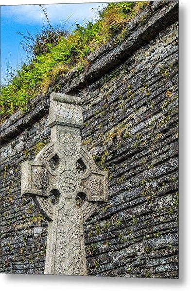 Celtic Cross At Kilmurry-ibrickan Church Metal Print