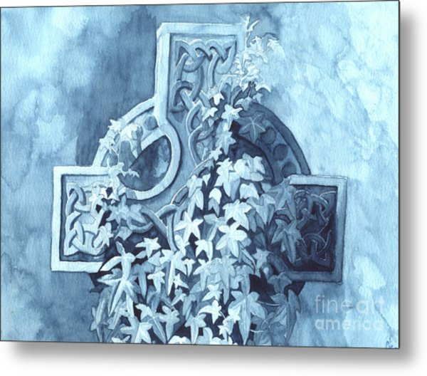 Celtic Cross Study Metal Print