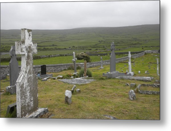 Celtic Graveyard Metal Print