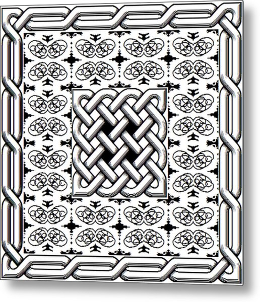 Celtic Knot Abstract Metal Print