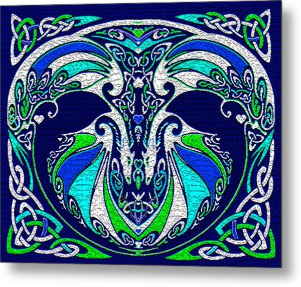 Celtic Love Dragons Metal Print