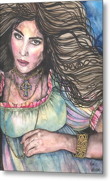 Celtic Queen Metal Print by Kim Sutherland Whitton