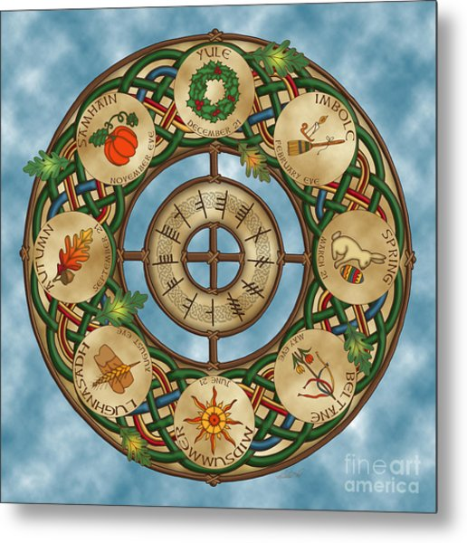 Celtic Wheel Of The Year Metal Print