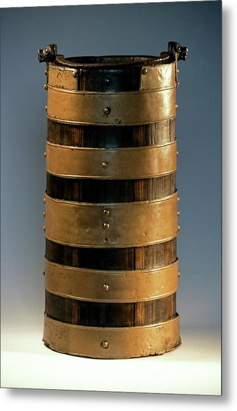 Celtic Wood Bucket Metal Print by Patrick Landmann/science Photo Library