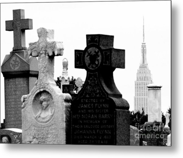 Cemetery City Metal Print