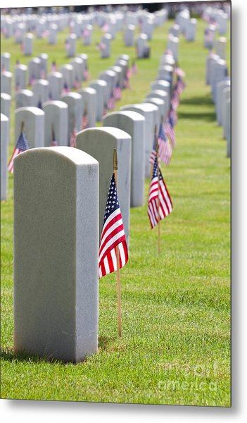 Cemetery Memorial Day Metal Print