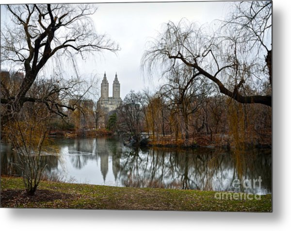Central Park And San Remo Building In The Background Metal Print