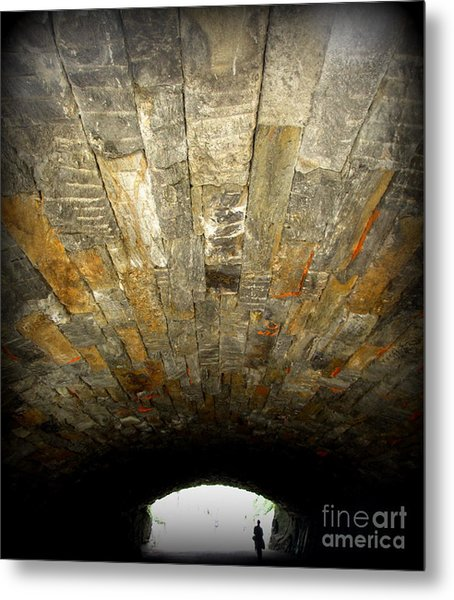 Central Park Bridge Metal Print by Maria Scarfone