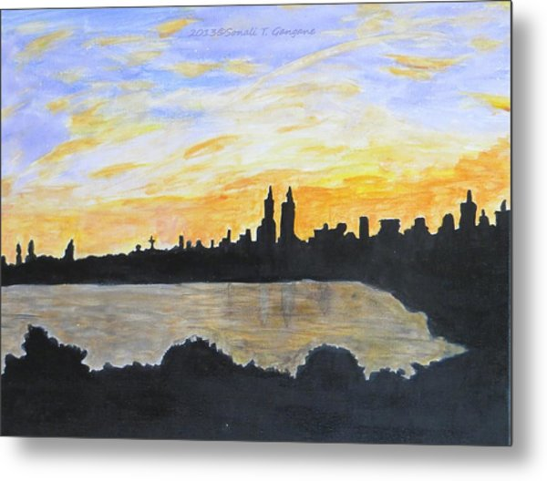 Central Park In Newyork Metal Print
