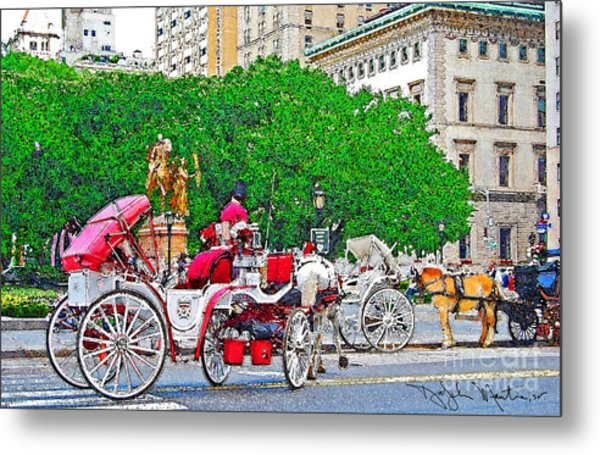 Central Park Ny Metal Print by Art Mantia