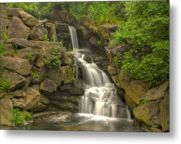 Central Park Waterfall Metal Print by Zev Steinhardt