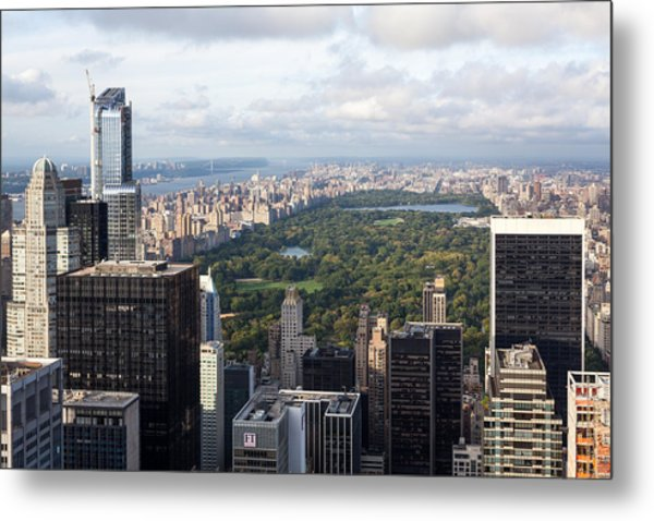 Central Park Metal Print by Wolfgang Woerndl