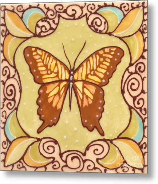 Ceramic Butterfly Metal Print