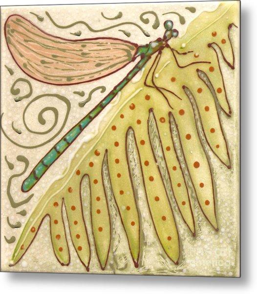 Ceramic Dragonfly Metal Print