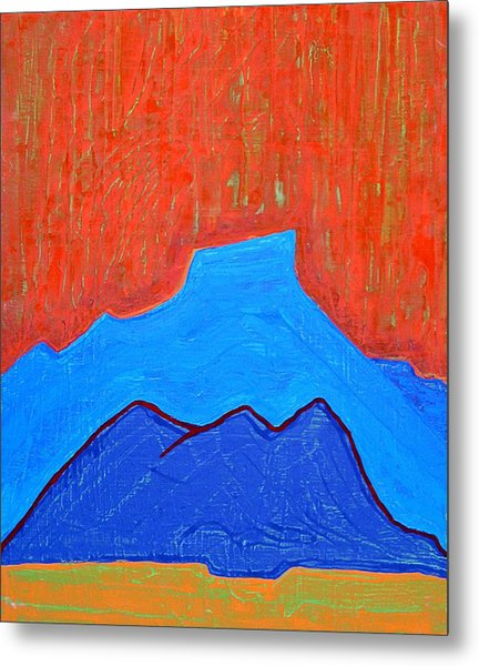 Cerro Pedernal Original Painting Sold Metal Print