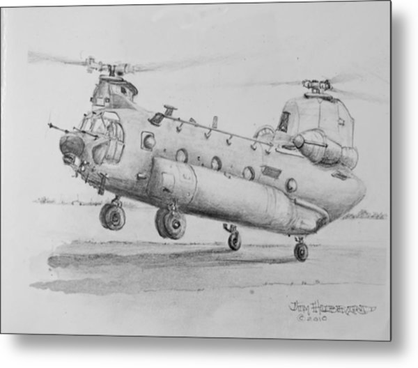 Ch 47 Chinook Helicopter Metal Print