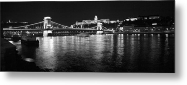 Chain Bridge-budapest Metal Print
