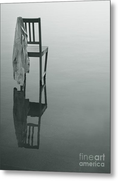 Chair Reflection Metal Print