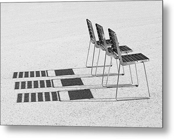Chairs In The Sun Metal Print