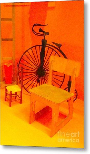 Chairs Spoke Metal Print