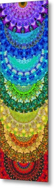 Chakra Mandala Healing Art By Sharon Cummings Metal Print