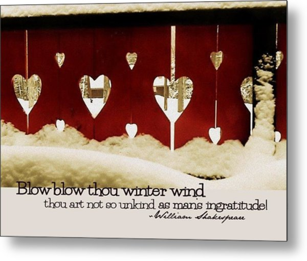 Chalet De Coeur Quote Metal Print by JAMART Photography