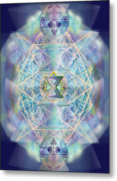Chalicells Electric Sparkling Vortices Of Light II Metal Print