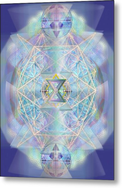 Chalicells Electro Dynamic Vortices Of Light Metal Print