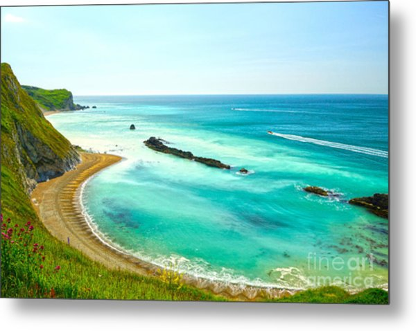 Chalky Shores Metal Print