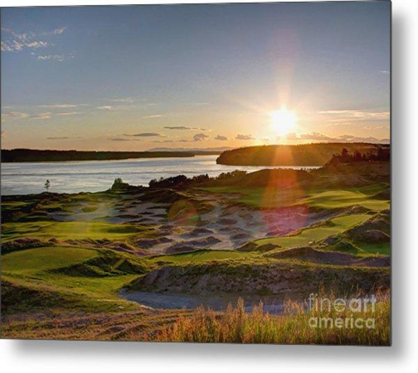 Chambers Bay Sun Flare - 2015 U.s. Open  Metal Print
