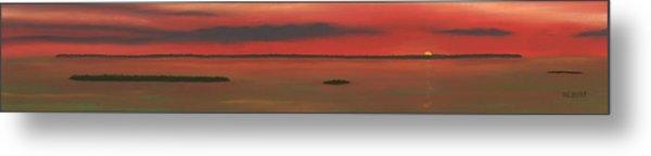 Chambers Island Sunset Metal Print