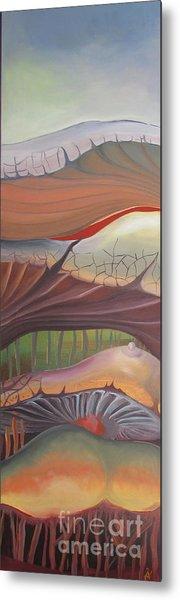 Champignons Landscape Metal Print