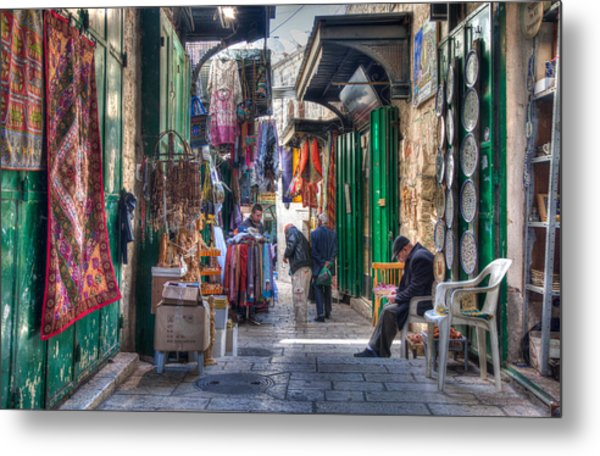 Changing Colors Of The Market Metal Print