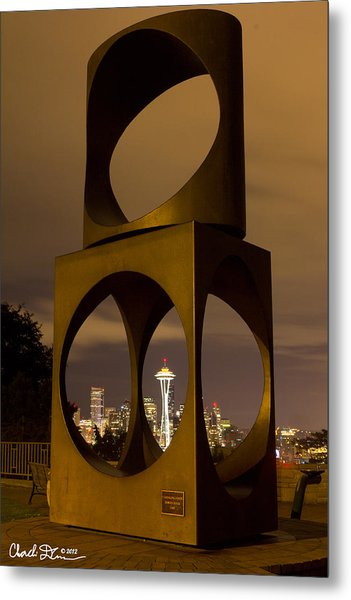 Changing Form Of Seattle Metal Print