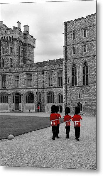 Changing Of The Guard At Windsor Castle Metal Print