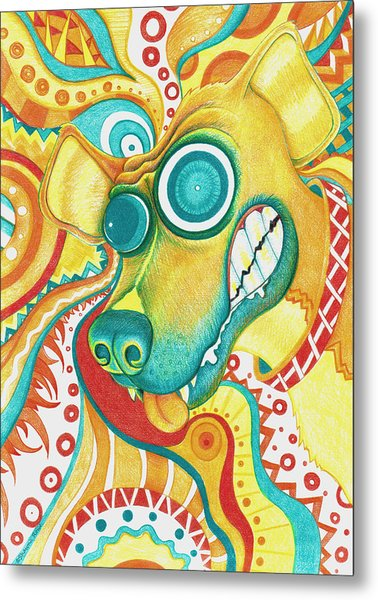 Chaotic Canine Metal Print
