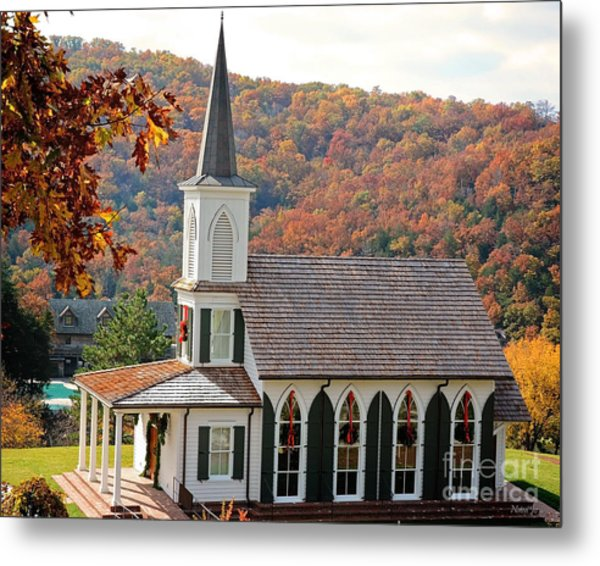 Chapel At Big Cedar Metal Print