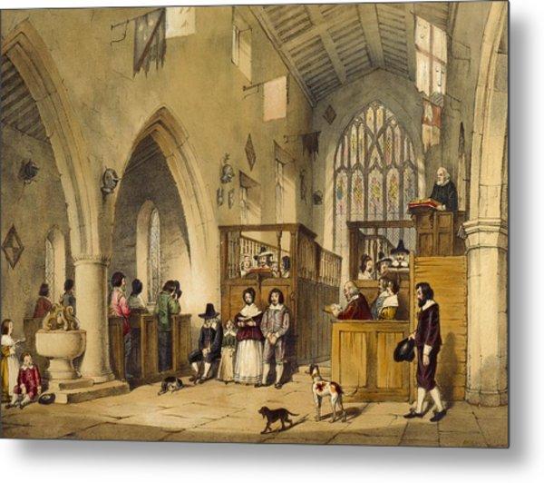 Chapel At Haddon Hall, Derbyshire Metal Print