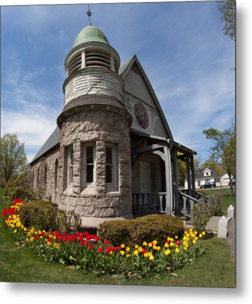 Chapel At Laurel Hill Cemetery Metal Print