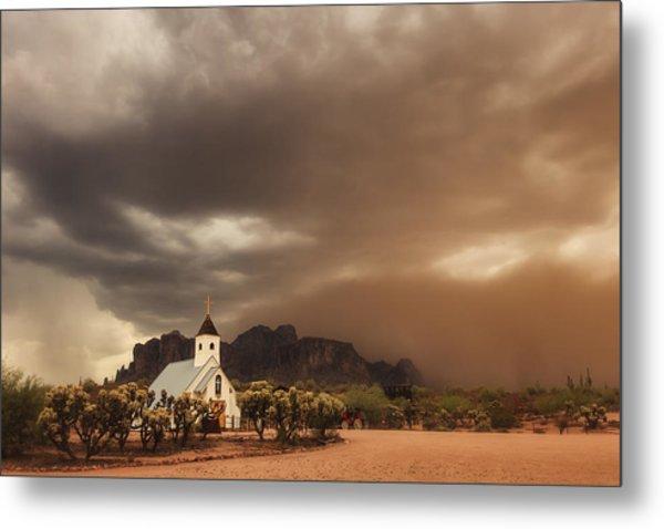 Chapel In The Storm Metal Print