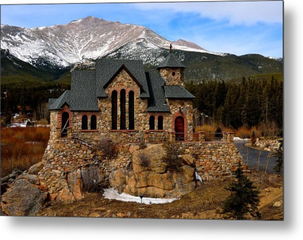Chapel On The Rocks Metal Print