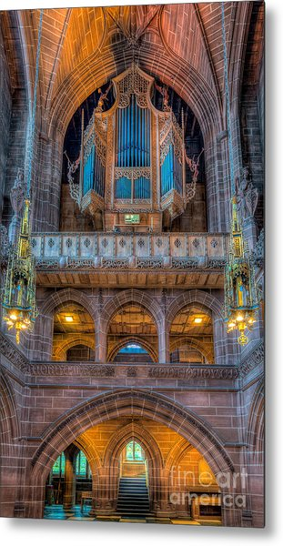Metal Print featuring the photograph Chapel Organ by Adrian Evans