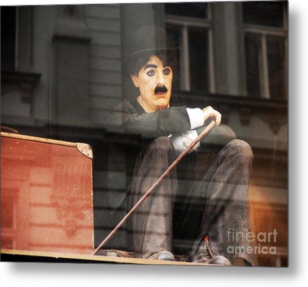 Chaplin In Prague Metal Print by John Rizzuto