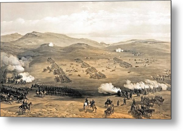 Charge Of The Light Cavalry Brigade Metal Print