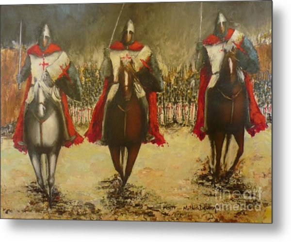 Charge To Battle Metal Print