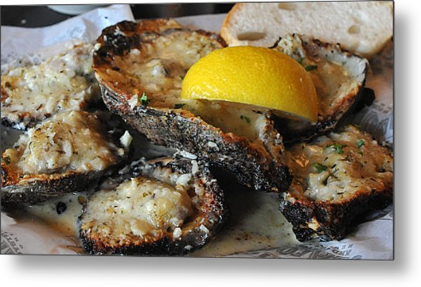 Chargrilled Oysters Metal Print