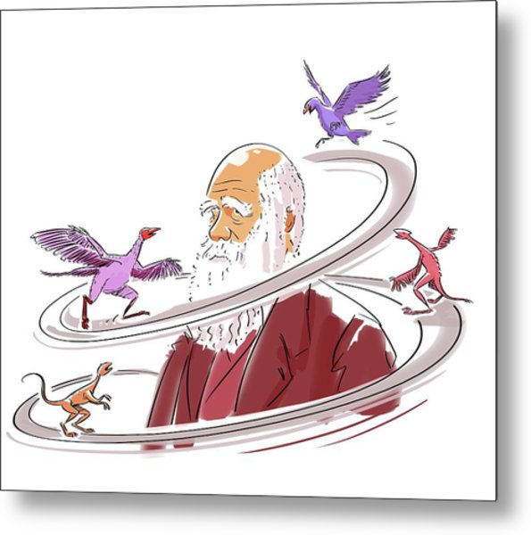 Charles Darwin Metal Print by Harald Ritsch