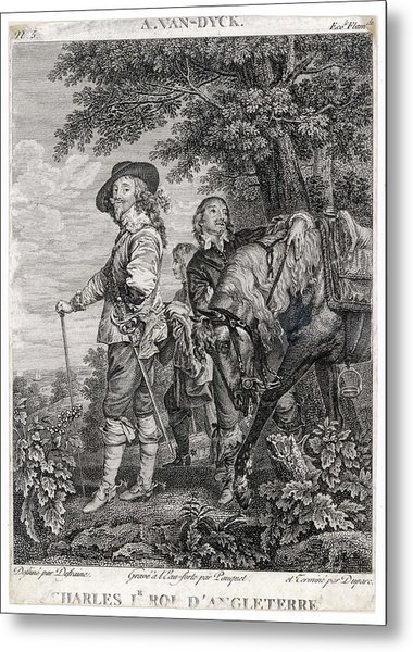 Charles I Of England          Date 1600 Metal Print by Mary Evans Picture Library