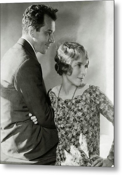 Charles Macarthur And Helen Hayes Metal Print by Edward Steichen