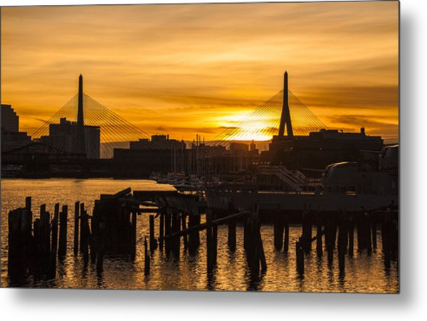 Charles River Sunset Metal Print by T C Hoffman